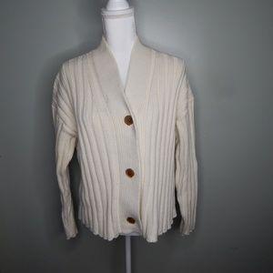 everlane women sweater cashmere cream sz s